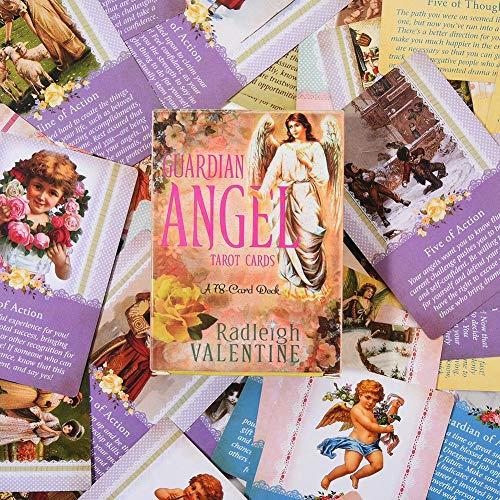 Dream-cool 2020 Nuevas Cartas del Tarot Ángel de la Guarda, Predecir cartas del Tarot, 78-Card Deck and Guidebook Cards Beginner Board Game nice