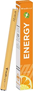 Energy Caffeine + Vitamin B12 Energy Inhaler Pen with Orange and Cassia Oils + L-Theanine - Citrus Flavored Daily Vitality Supplement (1)