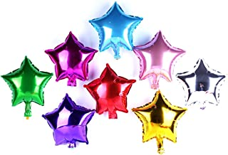 AnnoDeel 50 pcs 10 Inch Star Balloons, Foil Balloons Party Mylar Balloon Mixed Color for Wedding Birthday Decoration
