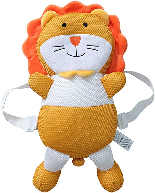 Baby Head Protector Toddlers Head Safety Pad Cushion Baby Back Protection Prevent Toddlers Injured Orange Lion