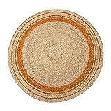 Alfombra Trenzada a Mano Alfombra trenzada redonda de 100 cm / 120 cm / 150 cm de diámetro, alfombra de yute reversible tejida a mano para el dormitorio, decoración del hogar, cocina, sala de estar PT
