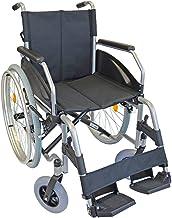 FabaCare Rollstuhl Lexis, Standardrollstuhl faltbar, mit Steckachse, Transportrollstuhl bis 130 kg, Sitzbreite 51 cm