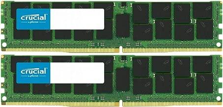 Crucial Bundle with 128GB (4 x 32GB) DDR4 PC4-21300 2666MHz RDIMM (4 x CT32G4RFD4266), Dual Ranked Registered ECC Memory