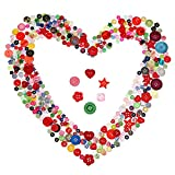 500 Piezas de Botones de Resina Botones de Colores y Formas Variadas para Manualidades Costura Decoraciones, 2 Agujeros y 4 Agujeros