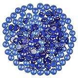 YiYa Azul Gema de Vidrio Piedras de Cristal Piedra Preciosa de Vidrio para la decoración ...