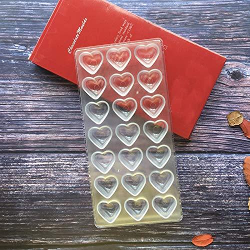 Etern Transparent Schokoladenform, Pralinenform Backform Backzubehör aus Polycarbonat, für Süßigkeiten, Hochzeits oder Geburtstagskuchen DIY
