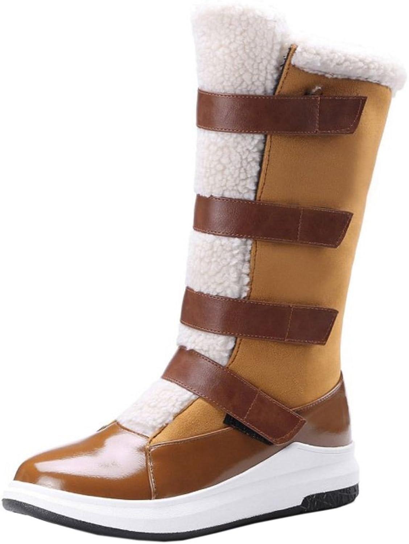 TAOFFEN Women's Half Boots Velcro
