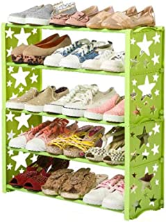 XWZH Cabinet de Chaussures Anti-poussière Porte-Chaussures en métal en Aluminium Standing Chaussure Rack Bricolage Chaussu...