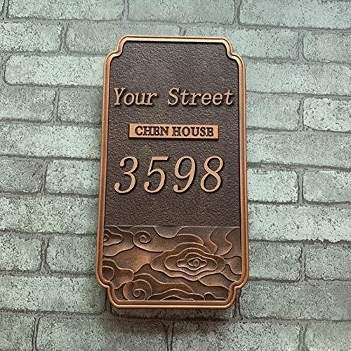 Grabado En 3D Personalizado De Números De Casas Exteriores, Texturas Retro, Placas Con El Nombre De Las Carreteras, Patrones De Texto Personalizados