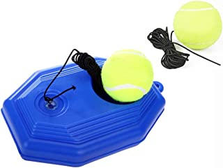 CIMERAC Tennis Trainer,Tennis Equipment,Tennis Ball Trainer,Practice Training Tool Sport Exercise, Tennis Base with A Rope Self-Study Tennis Rebound Player with Trainer Baseboard + 2 Training Ball