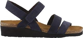 NAOT Women's, Kayla Sandals Navy Velvet 4.2 M