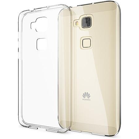 NALIA Cover Custodia compatibile con Huawei G8 GX8, Protezione Silicone Trasparente Sottile Case, Copertura Gomma Lucida Chiaro Morbido Cellulare ...