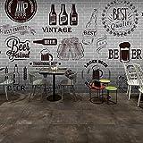 CQDSQN Papel pintado Restaurante de comida rápida a la parrilla de ladrillo de cemento gris Pintura ...
