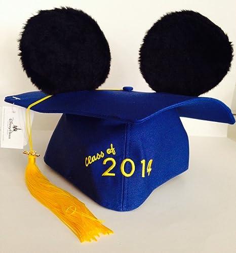 Disney Park 2014 Mickey Mouse Plush Ears Graduation Hat Cap nouveau by Disney