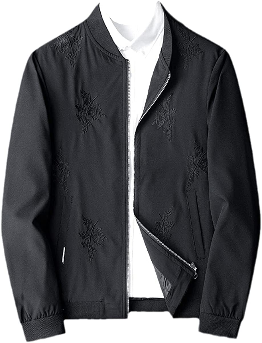 Fashion Embroidered Bomber Jacket Men's Hip-Hop Windbreaker Bomber Jacket Spring Street Style
