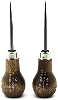 """C.S. Osborne Scratch Awl #478 (3-7/8"""" Long) Leather Tools Made in USA Set of 2"""