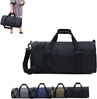 Sports Duffel Bag with Shoes Compartment and Wet Pocket Gym Duffel Bag For Men and Women Workout Bags (Black)