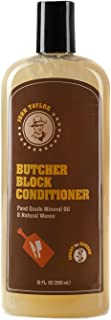 John Taylor Butcher Block Conditioner Food Grade Mineral Oil and Natural Waxes, 12 fl.oz(355ml)