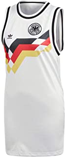 adidas Originals Womens Germany Football Tank Dress - White