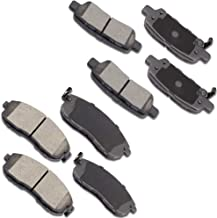 OCPTY Ceramic Brakes Pads, Quick Stop Front Rear Brake Pad fit for Infiniti G35,2016-2017 Infiniti Q70/QX50/QX70,2003-2005 Nissan 350Z,Nissan 370Z,2009-2013 Nissan Altima,2011-2017 Nissan Juke