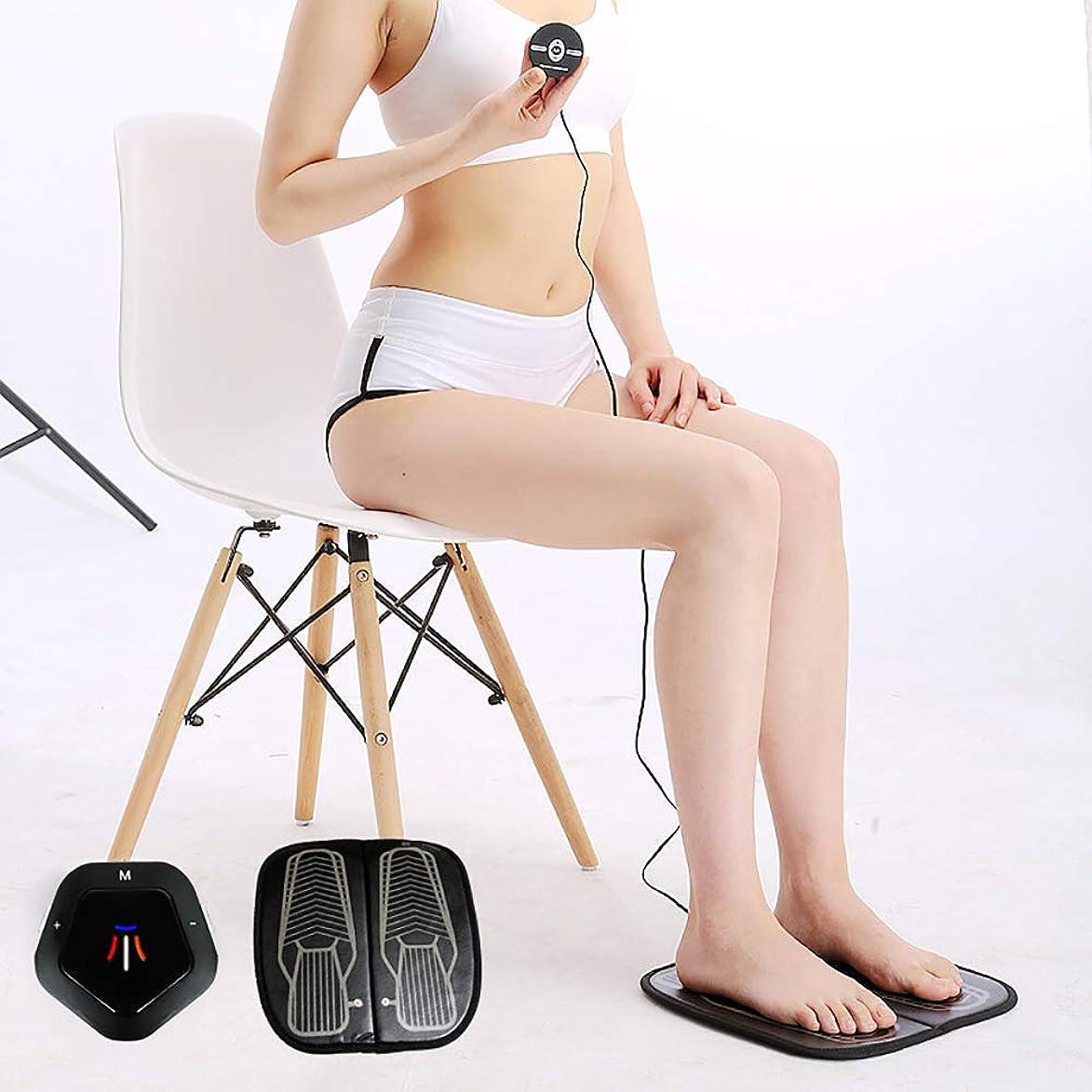 ラバ効能ある確認してくださいEMS理学療法の足のマッサージのクッション、USBの再充電可能な振動の足のペディキュア機械はフィートの苦痛を取り除きます血循環を改善します
