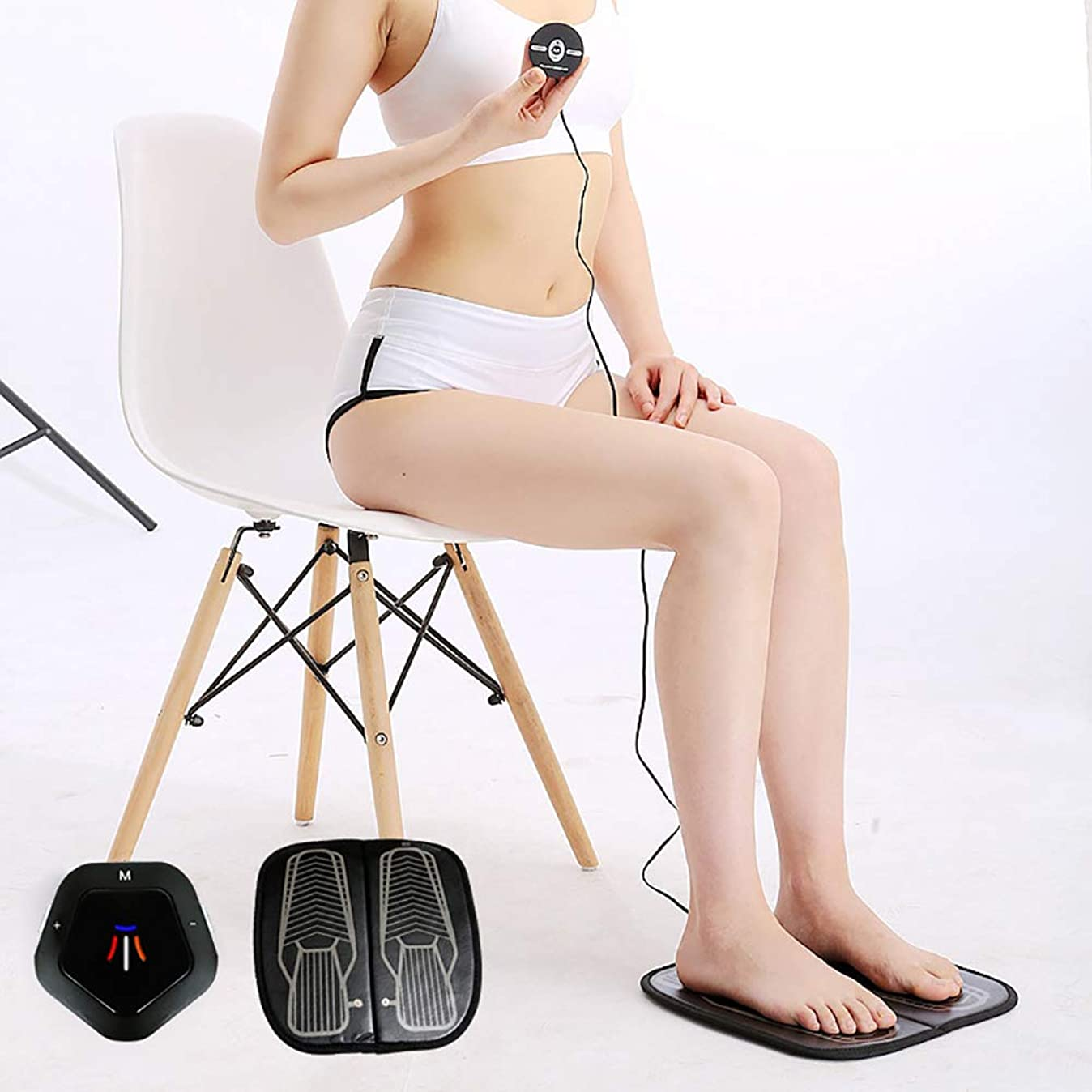 不十分な訪問したいEMS理学療法の足のマッサージのクッション、USBの再充電可能な振動の足のペディキュア機械はフィートの苦痛を取り除きます血循環を改善します