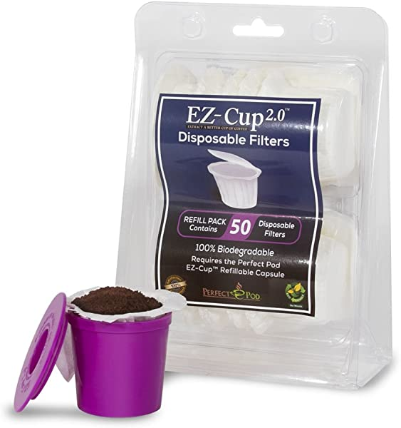 EZ Cup Filters By Perfect Pod 4 Pack 200 Filters