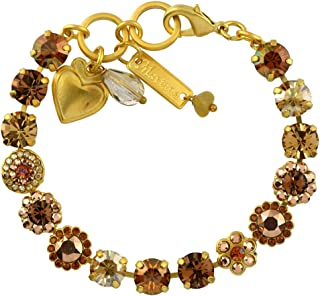 Mariana Jewelry Caramel Bracelet, Gold Plated with Crystal, Nature Collection MAR-B-4479 137 YG