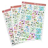 INSPRING Bible Tabs Floral Adhesive Stickers for Indexing 72 Pieces (66 Books and 6 Blanks) Christian Gift