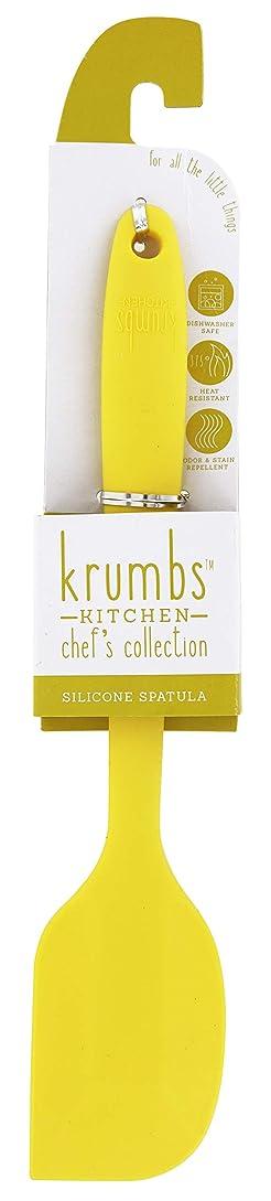 肘掛け椅子綺麗なKrumbs キッチンシェフコレクション シリコン製スパチュラ イエロー