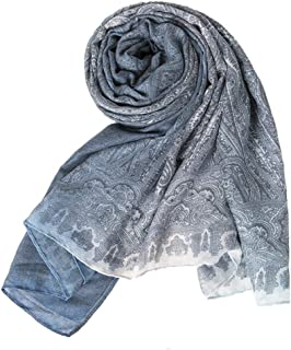 Women Fashion Chiffon Neck Scarf Shawl Scarves Long Beauty Women's Gradient Soft Scarf,Blue
