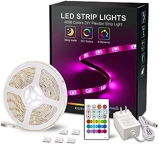 RGB LED Strip Light 12V Led Light Strip 16.4ft LED Tape Lights 5050 Waterproof Led Rope Lights Color Changing Strip Lights with Remote Lights for Bedroom Color Changing Light for Bar Party Decor