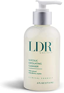 LDR by Baysyx - Glycolic Exfoliating Cleanser Fortified with AHA, BHA & Jojoba Oil Beads (6 Oz) | Refining Skincare Cream for Radiant & Renewed Skin | Made in The USA from Natural Ingredients