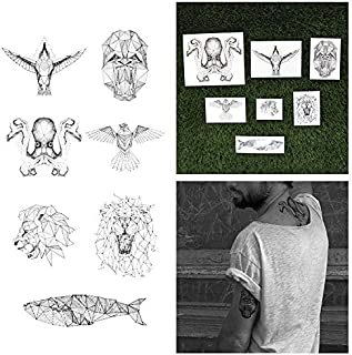 Tattify Animal Temporary Tattoos - Nature Calls (Set of 14 Tattoos - 2 of each Style) - Individual Style Available - Fashionable Temporary Tattoos