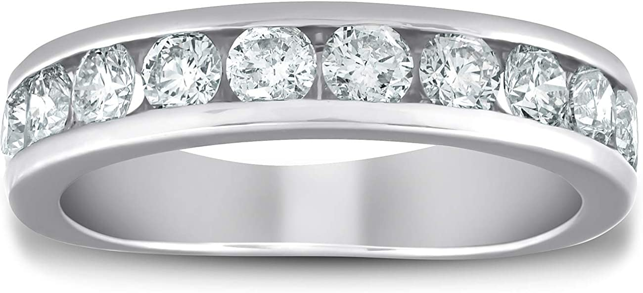 1 2 Ranking TOP9 Ct Diamond Wedding Ring Set Channel Eternity Today's only Half B Womens