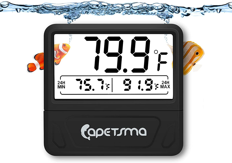 Surprise price Max 66% OFF capetsma Aquarium Thermometer Digital Fish Larg Tank