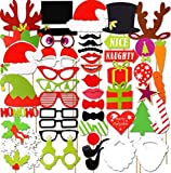50pcs Photo Booth Props, Photo Booth Noel, Noël Photo Booth Props Kit,...