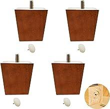 Set van 4 bankpoten met houten meubilair, massief houten tv-kast voeten, trapeziumvormige dennenthee tafelpoten, vervangen...