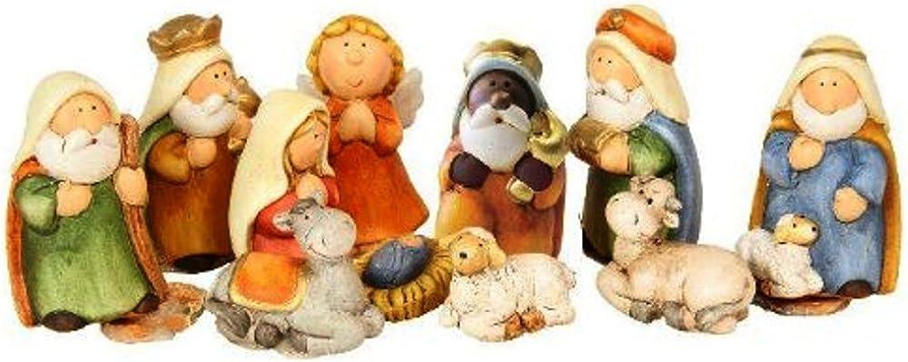 Timtina® - set di statuine per presepe, 11 pezzi in ceramica 48281