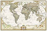 National Geographic: World Executive Enlarged Wall Map - Laminated (73 x 48 inches) (National Geographic...