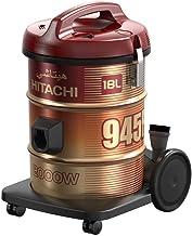 هيتاشي مكنسة كهربائية ، 2000 واط، 18 لتر، لون أحمر نبيذي - CV-945F SS220 WR