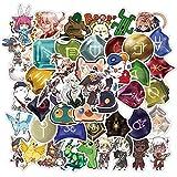 SHUYE Game Final FantasyGraffiti Waterproof Skateboard Travel Suitcase Phone Laptop Luggage Stickers Cute Kids50Pcs/Set