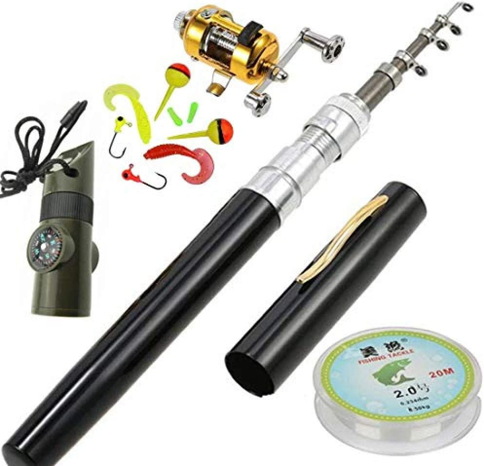 HappyOutdoor Portable Mini Telescopic Discount is also underway Pen Combo Max 84% OFF Rod Fishing Reel