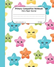 Primary Composition Notebook Story Paper Journal: Hot Air Balloon With Stars Dashed Mid Lined Pages For Alphabet Practice Along With Space For Drawing Pictures 8