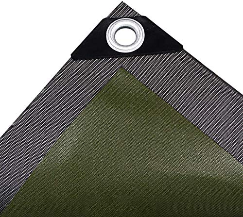 Lona plegable impermeable, lonas de PVC resistente resistente a la rotura de tejido polivinílico resistente al polvo impermeable sombra cubierta de lona 64x8ft/2x25m, 16x22.4ft/5x7m