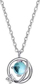 ANAZOZ 925 Sterling Silver Necklace for Women, Cubic...