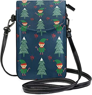 Tropical Floral Dragonfly Lightweight Leather Phone Purse, Small Crossbody Bag Mini Cell Phone Pouch Shoulder Bag for Women