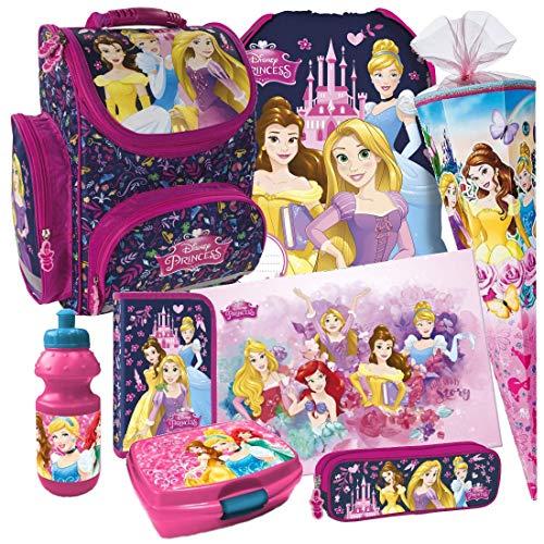 Disney Princess Prinzessin 8 Teile Set Schulranzen RANZEN FEDERMAPPE TORNISTER Tasche mit Sticker von kids4shop Federmappe Schultüte 85 cm