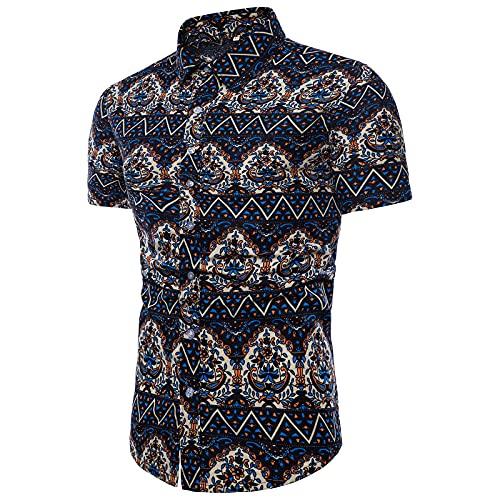 SSBZYES Sommer Herren Kurzarmhemden, Herrenhemden, Bedruckte Hemden, Herrenmode Blumenhemden, Große Strand Stil Kurzarm Bedruckte Hemden