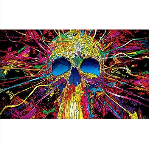 DENGLEI Cartel De Seda Pintura Arte Psicodélico Europeo Abstracto Pintado Pintura Decorativa Colgante 66x44cm F-08